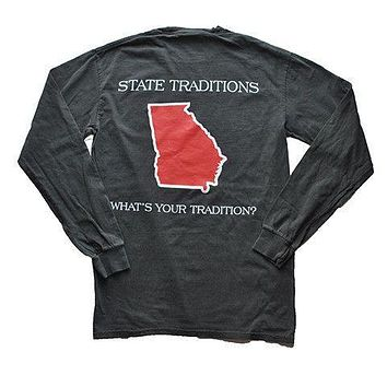GA Athens Gameday Long Sleeve T-Shirt in Pepper Grey by State Traditions
