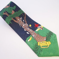 Golf Tie Designs by A. Rogers Vintage Necktie Golf Clubs Golfing Joke Mens Fashion Gifts for Men