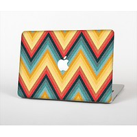 The Orange & Blue Chevron Textured Skin Set for the Apple MacBook Air 11""