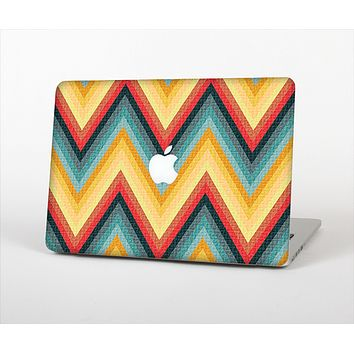 The Orange & Blue Chevron Textured Skin Set for the Apple MacBook Air 13""