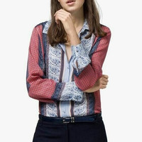 Floral Print Button Long-Sleeve Collared Shirt