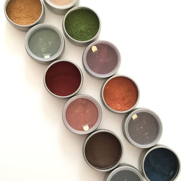 Organic Herb Eye Shadows, Safer Non-Mineral, Botanical Eyeshadows, Matte, Vegan, Eyeshadow Detox, Makeup Transition