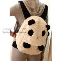 "15"" White Panda Backpack Rucksack Women School Bag Pack Fleece Animal Plush Gift"