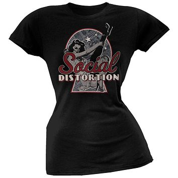 Social Distortion - Newspaper Pin-Up Juniors T-Shirt