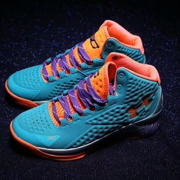 """Under Armour"" Men Casual Fashion Multicolor Mid Help Basketball Shoes Sneakers Running Shoes"