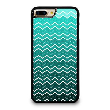 OMBRE TEAL CHEVRON Pattern iPhone 4/4S 5/5S/SE 5C 6/6S 7 8 Plus X Case