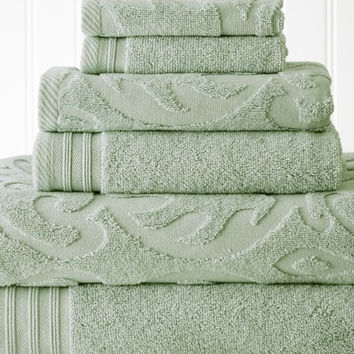 Quick Dry Cotton Towel Set 6 Piece Jacquard