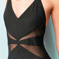 Silence + Noise Electra Mesh Maxi Dress | Urban Outfitters