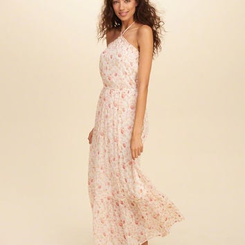 Girls Halter Maxi Dress | Girls Clearance | HollisterCo.com