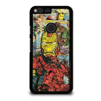 IRON MAN COMIC COLLAGE Google Pixel XL Case Cover