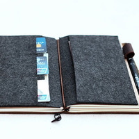 BACK IN STOCK Card Holder for Midori Travelers Notebook // Credit Card Holder // Business Card Organizer // Leather Journal Accessories