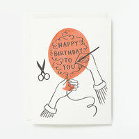 Happy Birthday Balloon Card 1pc