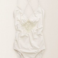 Aerie Women's Lace-up One-piece (Soft Muslin)
