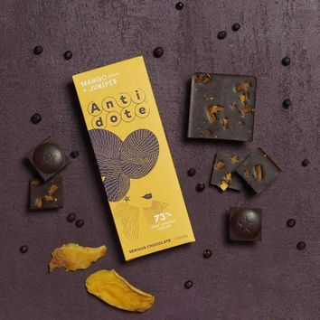 Antidote Chocolate - Hybris: Mango+Juniper 73% with slow roasted cacao