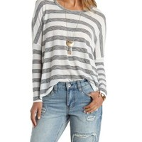 Oversized Striped Dolman Top by Charlotte Russe