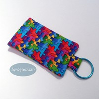 Key Chain Pocket, Business Card Holder, Key Fob, Puzzle Pieces