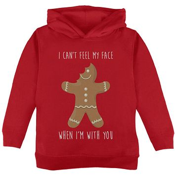 Christmas Gingerbread Man Can't Feel My Face Toddler Hoodie