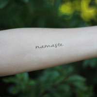 Namaste Temporary Tattoo