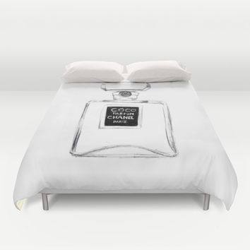 Coco Chanel Duvet Cover by Alicia Evans