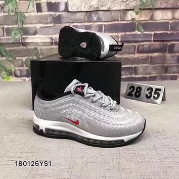 Nike air max 97 Girls Boys shoes Children boots Baby Sandle Toddler Kids Child Fashion Casual Sneakers Sport Shoes
