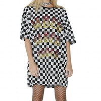 Sequin Checkerboard Dress
