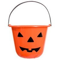"Orange Jack-o-Lantern Treat Pails, 7x9"" at Deals"