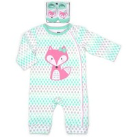 Vitamins Newborn Baby Girl Coverall with Socks 2 pc Set - Walmart.com