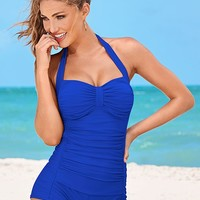 Shorty One-Piece Swimsuit in Cobalt Blue | VENUS
