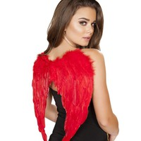 Red Devil Feather Wings
