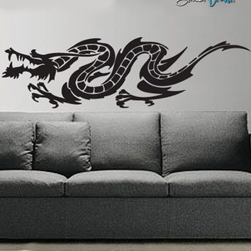 Vinyl Wall Decal Sticker Chinese Dragon #486