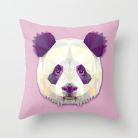 The Panda Bear Throw Pillow by AnastasiaDesign