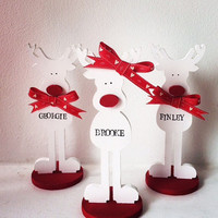Rudolph Christmas decorations, christmas decorations, personalised christmas items, christmas gift