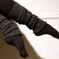 Amazon.com: KD dance Leg Warmers, Double as Arm Warmers, Fashionable Ruffled Top, High Quality Ribbed Stretch Knit, Black Metallic Thigh High's Via Amazon Free Shipping Made In NYC USA: Clothing