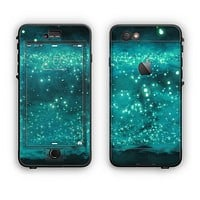 The Trendy Green Space Surface Apple iPhone 6 Plus LifeProof Nuud Case Skin Set