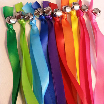 100 Wedding Bell Wands ~ Rainbow Ribbons Streamers