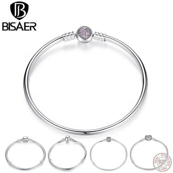 Authentic 100% 925 Sterling Silver Femme Snake Chain Bracelets & Bangles for Women Sterling Silver Jewelry Original Pulseira