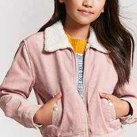 Girls Faux Shearling Corduroy Jacket (Kids)