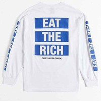 OBEY Eat The Rich Long-Sleeve Tee
