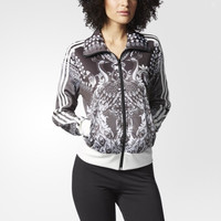 """Adidas"" Clover Retro Phoenix Print Long Sleeve Casual Zip Cardigan Jacket Coat"