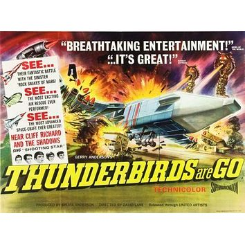 Thunderbirds Are Go Poster 11 inch x 17 inch poster