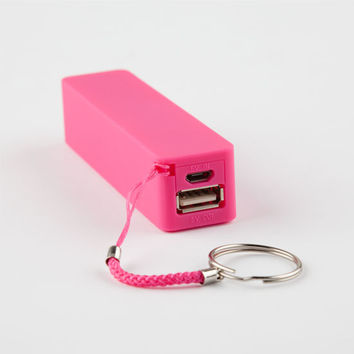 Lmnt Portable Phone Charger Pink One Size For Women 26402935001
