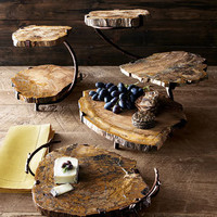 Petrified Wood Serving Pieces - Horchow