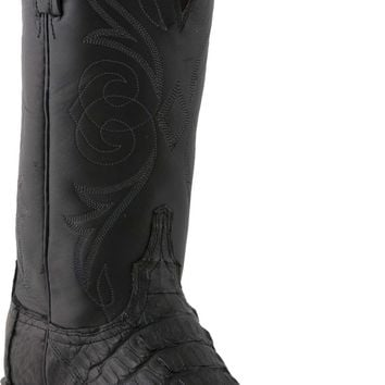 Lucchese Heritage Womens Black Caiman Tail Leather Boots N4082