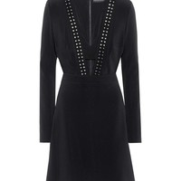Studded crêpe dress