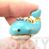 Blue Whale Shaped Animal Pendant Necklace | Limited Edition Animal Jewelry