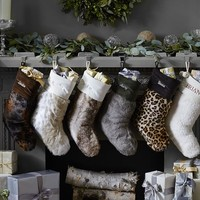 Faux Fur Stockings