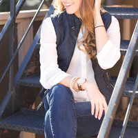 Casual Chic Vest Navy