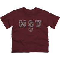 Missouri State University Bears Youth Wordmark Logo T-Shirt - Maroon - http://www.shareasale.com/m-pr.cfm?merchantID=7124&userID=1042934&productID=505462337 / Missouri State University Bears