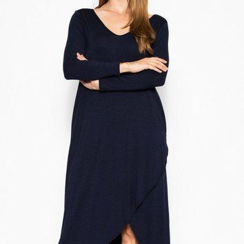 Plus Solid, Maxi Dress With Pockets