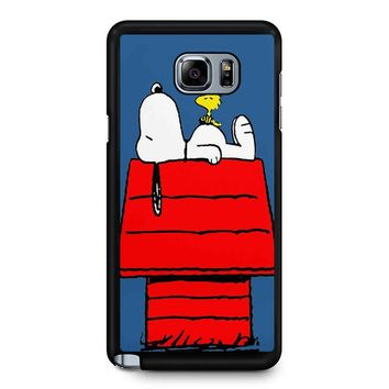 Snoopy And Woodstock Samsung Galaxy Note 5 Case
